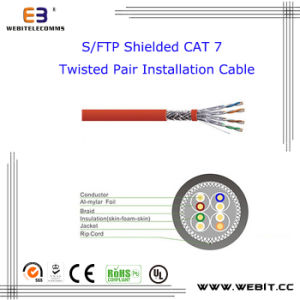 S/FTP Shielded Cat 7 Twisted Pair Installation Cable, 23AWG, Cat 7 S/FTP Data Cable /LAN Cable /Network Cable pictures & photos