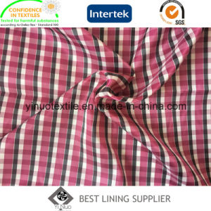 Classic Two Tone Check Lining 100 Polyester Lining Fabric pictures & photos