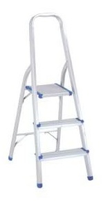 Hot Selling 3 Step Aluminum Household Ladder pictures & photos