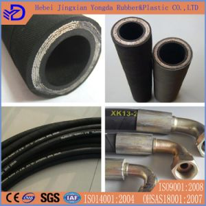 SAE100r12at Braid Cloth Covered Hydraulic Hose pictures & photos