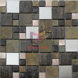Metal Glass and Marble Mixed Wall Used Mosaic Tile (CFM943) pictures & photos