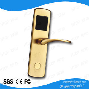 Brass Golden High Security ANSI Mortise Smart Card Electronic Lock for Hotel Door (L918-M) pictures & photos