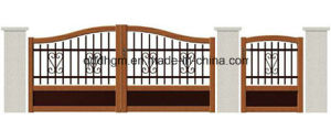 European Residential High Quality Galvanized Steel Main Gate Design pictures & photos