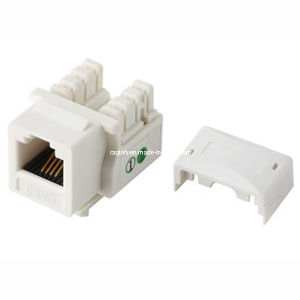 Cat. 3 Telephone Rj11 Connector Keystone Jack pictures & photos