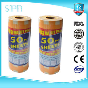 Household Cleaning Cloth Spunlace Nonwoven Dry Wipes in Roll pictures & photos