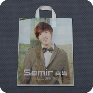Plastic Retail Shopping Bag with Soft-Loop Handle Bag pictures & photos