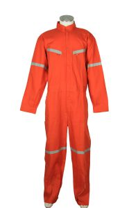 Orange/ Navy 100%Polyester 115GSM Poplin Mens Coverall for Chile Market pictures & photos