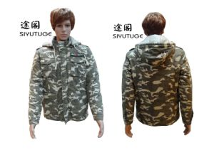 Men Fashion Militray Camouflage Cotton Padding Hoody Jacket (SY-1565) pictures & photos