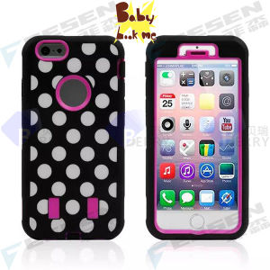 DOT Cartoon Case for iPhone 6, 2 Layers Design Case for iPhone 6, There Are Another 3 Different Designs