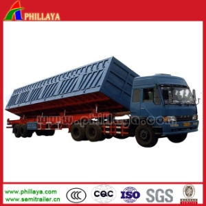 The Cargo Hydraulic Side Dump Tipping Truck Semi Trailer Tipper pictures & photos