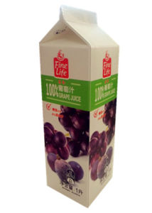 1L Gable-Top Grape Juice Carton with Caps pictures & photos