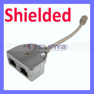 RJ45 Shielded Network Cable Splitter 1 Male to 2 Female Adapter Cable pictures & photos