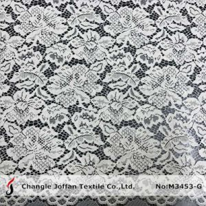 Fashion Flower Jacquard Lace Fabric (M3453-G) pictures & photos