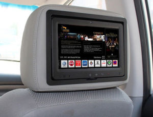 """9"""" Tablet PC Ad Player in Taxi Headrest with 3G pictures & photos"""