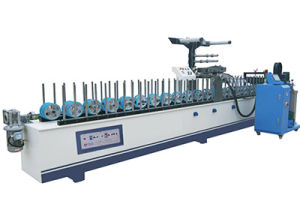 Woodworking Machine Pur Profile Wrapping Film Lamination Machine for Profiles and Panels pictures & photos