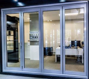 Delicate Double Glass Thermally Broken Aluminium Sliding Exterior Doors System pictures & photos