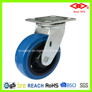 125mm Swivel PU Wheel Castor (P701-36FA125X50) pictures & photos