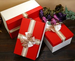 Hot Sale Elegant Rectangle Chocolate Gift Box with Nice Bowknot, Gift Packaging Box pictures & photos