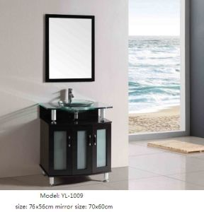 MDF Vanity Bathroom Cabinet with Glass Basin pictures & photos