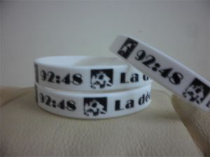Factory Price Custom Silk-Creen Wristband Bracelets for Promotion Giftsp10025