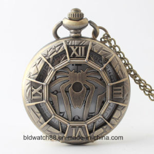 Hot Selling Unique Alloy Cut out Pocket Watch with Spider pictures & photos