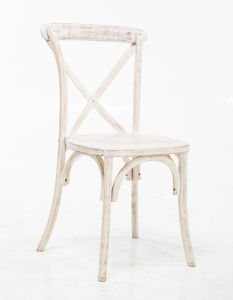 Limewash X-Back Stackable Chairs