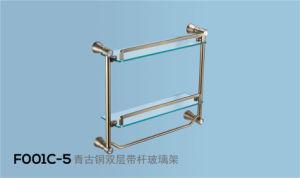 Brass Glass Tower Shelf/ Towel Shelf (F001G) pictures & photos