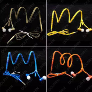 Good Quality Zipper Mobile Phone Stereo Earphone Earbuds pictures & photos