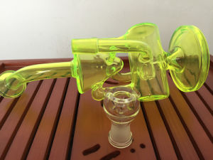 Wholesale Recycler Inline Perc Glass Water Pipe From High Quality Glass Pipe Factory pictures & photos