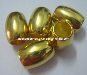 2012 New Arrival Oval Gold Plating Arylic Beads (BAD0087)