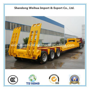 80t Multi-Axle Low Bed Semi Trailer, Heavy Equipment Truck Trailer pictures & photos