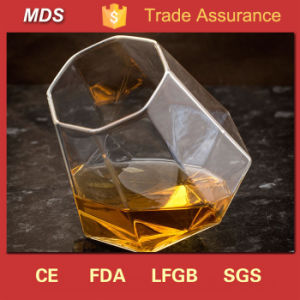 Diamond Shaped Slanted-Bottom Whisky Glass pictures & photos