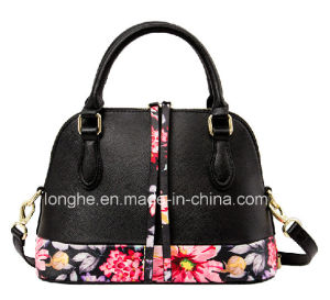 Floral Prints Fashion PU Lady Handbag (LY0190) pictures & photos