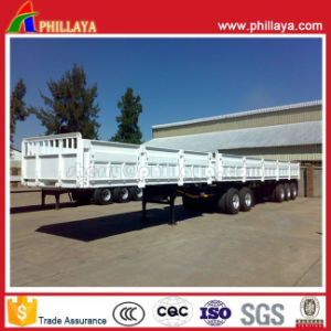 3axles 40-60tons Detachable Side Wall Enclosed Cargo Semi Trailer pictures & photos