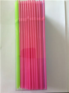 Multicolor Plastic Drinking Flexible Straw with PVC Box Packaging pictures & photos