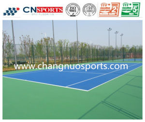 Itf Approved High Resilient Acrylic Spu Tennis Court Flooring pictures & photos