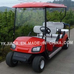 China 6 Seat Electric Sightseeing Golf Carts with 2 Back Seat (JD-GE502B) pictures & photos
