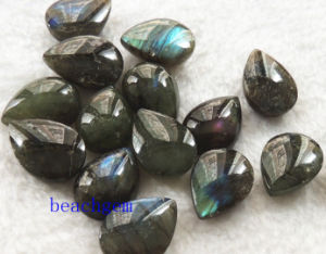 Jewelry Parts-Natural Labradorite Pear Checkbord Beads pictures & photos