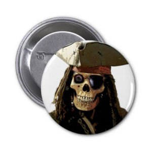 25mm Pirate Design Safety Tin Button Badge, Pin Badge pictures & photos
