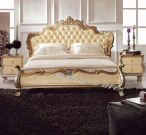 Leather Soft Bed D3166