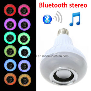 12W RGB E27 Smart LED Bluetooth Speaker Bulb with Wireless Music Player and Remote Controller pictures & photos
