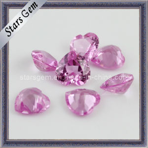 Heart Cut Synthetic 3# Pink Ruby Gems pictures & photos