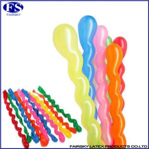 Colorful Spiral Balloon Long Twist Latex Screw Balloons pictures & photos