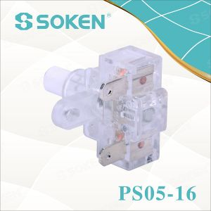 Soken Power Strip Transparent Push Button Switch 250VAC 16A pictures & photos