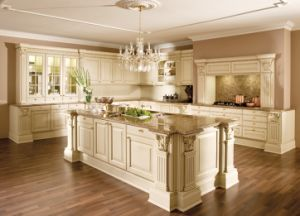 Kitchen Furniture Luxury Solid Wood Kitchen Cabinet pictures & photos