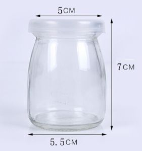Food Grade 40ml 100ml Pudding Glass Bottle Mini Milk Bottle with Cork or Cap pictures & photos
