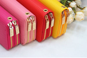 2016 Hot Selling Classical Fashion Lady Double Zipper Wallet, Wallet PU Leather, Wallet pictures & photos
