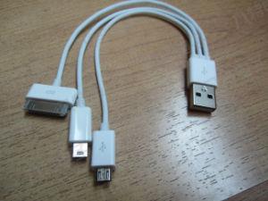 USB Cable. 3 in 1 Cable for iPhone5. Cable for iPhone4/4s Sumsang