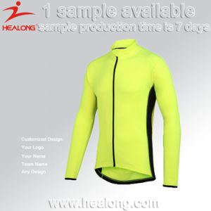 Healong Long Sleeves Custom Sublimation Sport Cycling Jersey pictures & photos