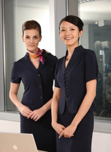 2014 New Style Hotel Uniform for Woman (UFM130036) pictures & photos